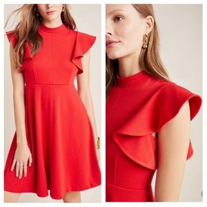Anthropologie Maeve XL Red Deena Mini Dress NWT